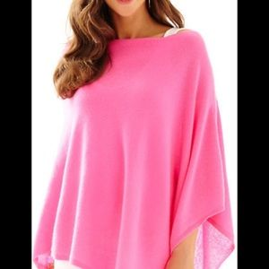 Lily Pulitzer pink cashmere poncho